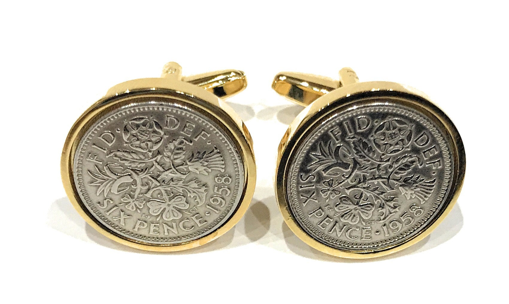Premium 1959 Sixpence Cufflinks 60th Birthday Gift Idea Mens