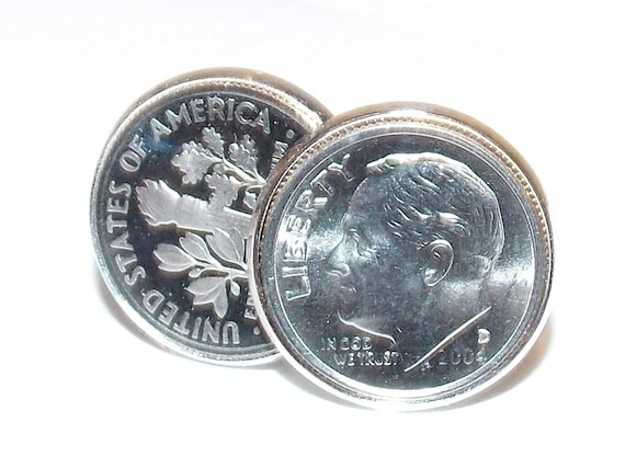 Premium 1972 Canadian Dime for a 46th Birthday or Anniversary Cufflinks