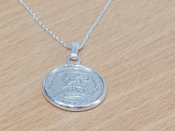 Gift from 1925 1925 96th Birthday Anniversary Farthing coin in a Silver Plated Pendant mount and 18 inch chain 96th birthday gift