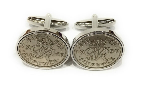 Premium 1939 Lucky Sixpence Cufflinks for a 79th Birthday Cufflinks