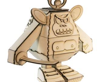 Biz Monk-e Square Headz Robot Kit – Samurai Warrior