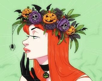 Poison Ivy: Halloween Flower Crown