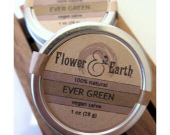 Ever Green Vegan Salve with Fir, Pine, Spice & Citrus. Shea Butter and Olive Oil Salve. Pine Salve. Fir Salve. EverGreen Salve. Winter Salve