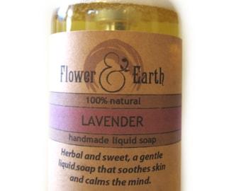 Lavender Liquid Soap: Handmade Castile Soap. Lavender Essential Oil Vegan Liquid Hand Soap. Olive Oil Castile Soap. Lavender Body Wash. 8oz.