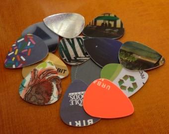 Recycled Guitar Picks - Bag of Ten (10)