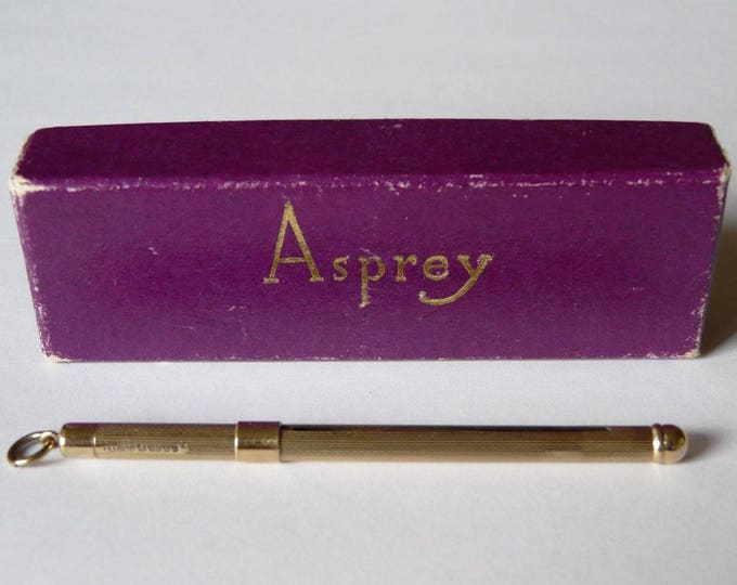 ASPREY & CO.....9CT Solid Yellow Gold, Cocktail Swizzle Stick Circa 1979