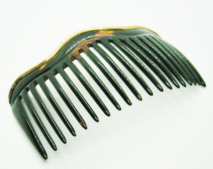 Victorian Art Nouveau, 14K Solid Gold Trimmed Ladies Hair Comb, Hair Accessory ..... Beautiful.