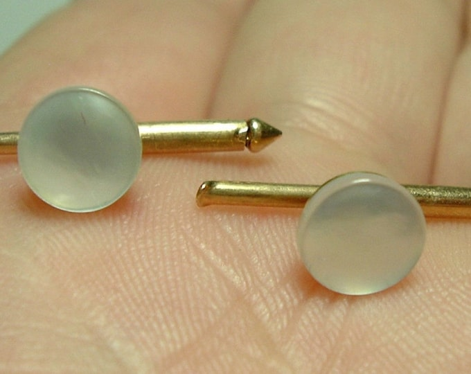 Vintage... Studs LARTER 2 PC 14K Yellow Gold to Match your cufflinks