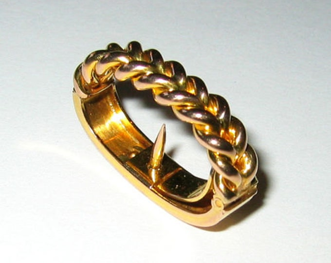 "Vintage: 9ct Solid Yellow Gold... ""Braided Design""......Scarf Clip !"