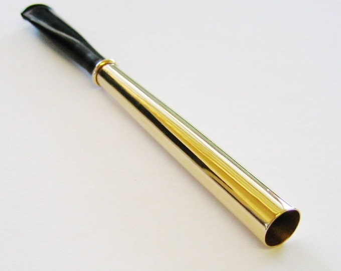 Antique...14K Yellow Gold, Classy, Unisex Cigarette Holder. Just Beautiful !