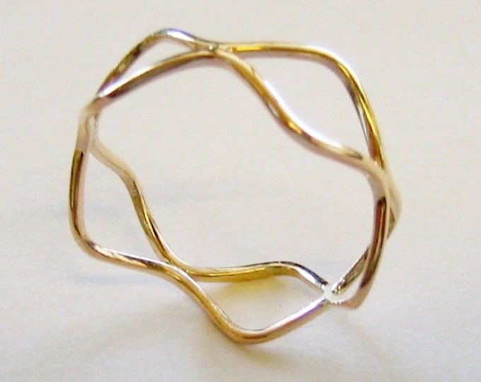 "Artisan, 10K Solid Yellow Gold, ""HANDMADE""  Abstract, Swivel Ring… by Jewelry Designer, Steve Haddad."