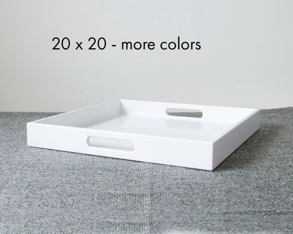 Admirable 20 X 20 Square Ottoman Tray Table Large Modern Coffee Table Tray For Ottoman Large Serving Tray With Handles Dailytribune Chair Design For Home Dailytribuneorg