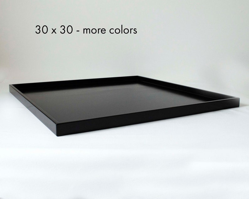 30 X 30 Extra Large Square Ottoman Tray Shallow Modern Coffee Etsy