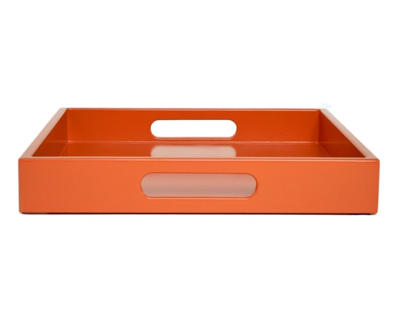 Incredible Orange Coffee Table Ottoman Tray With Handles Entryway Catchall Desk Organization Modern Home Decor Gamerscity Chair Design For Home Gamerscityorg
