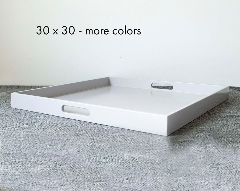 30 X 30 Square Coffee Table.30 X 30 Square Oversized Ottoman Tray Modern Extra Large Coffee Table Tray With Handles