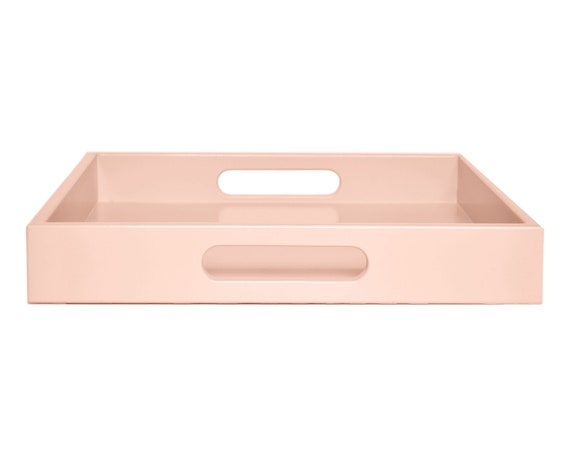 Terrific Soft Pink Ottoman Coffee Table Tray With Handles Small To Extra Large Square Or Rectangle Tray Ocoug Best Dining Table And Chair Ideas Images Ocougorg