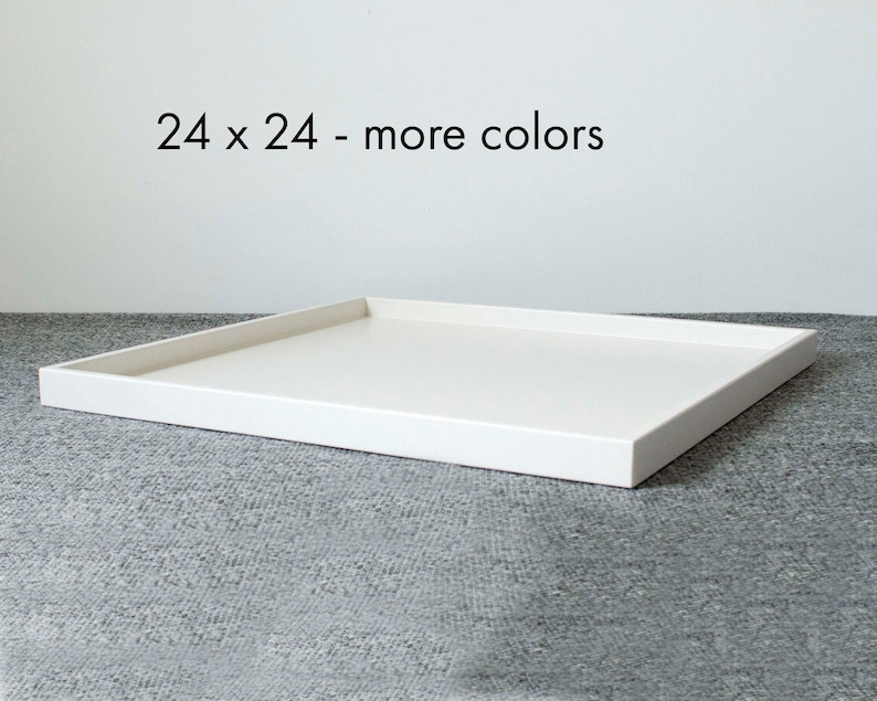 24 X 24 Large Ottoman Tray Shallow Modern Coffee Table