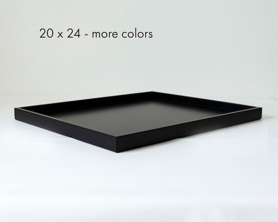 24 x 20 low profile large coffee table tray rectangular etsy. Black Bedroom Furniture Sets. Home Design Ideas
