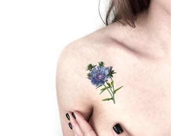 Tatouage Temporaire Mauve Symbole De Calme Et Damour Etsy