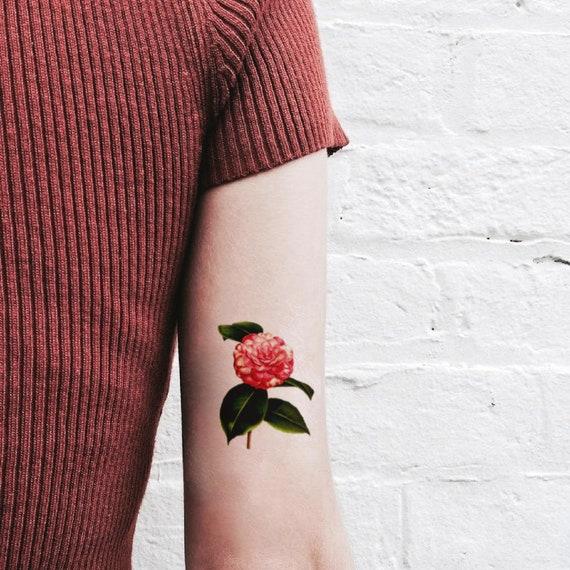 Camellia Temporary Tattoo Symbol Of Trust And Hope Speak Etsy