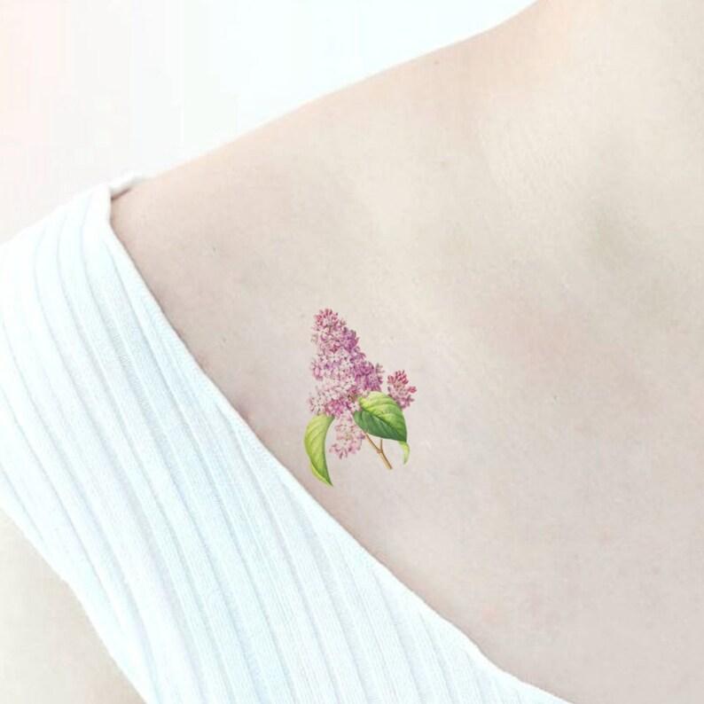 8th Wedding Anniversary S Gift Temporary Tattoo Lilac Etsy