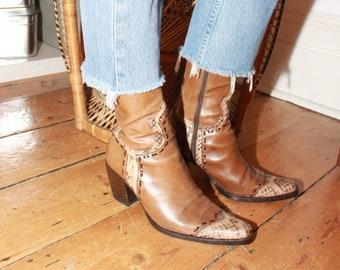5c9495af70e3f 80s snakeskin boots | Etsy