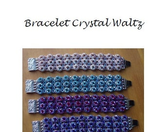 Beading Pattern Bracelet Crystal Waltz PDF (English)