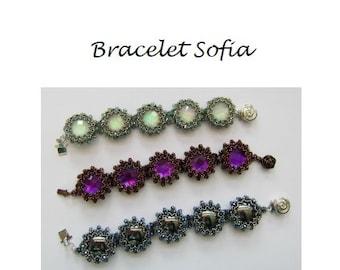 Beading Pattern Bracelet Sofia PDF (English)
