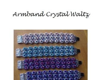 Beading Pattern Bracelet Crystal Waltz PDF (Dutch)