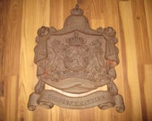 Hofleverancier - Netherlands Royal Warrant Seal for Vendors to the Royal Household - 20 quot high cast iron sign weighs 19 LB