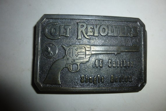 Colt .45 Caliber Revolver Single Action Belt Buckl