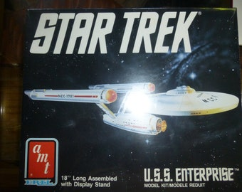 Starship Enterprise - Vintage Star Trek Model - 1980s New in Unopened Box by ERTL / AMT