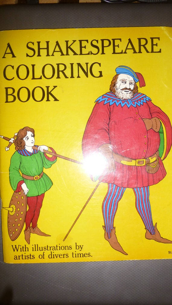 Shakespeare Coloring Book 1970 Bellerophon Books Adult or   Etsy