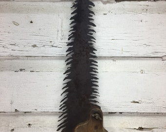 Metal Pine Tree Plasma Cut by Hand Repurposed Hand Saw, Wall Decor, Art