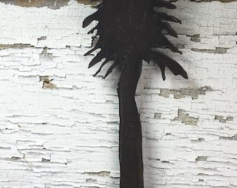 Metal Pine Tree Plasma Cut by Hand Repurposed Hand Saw, Wall Decor, Art