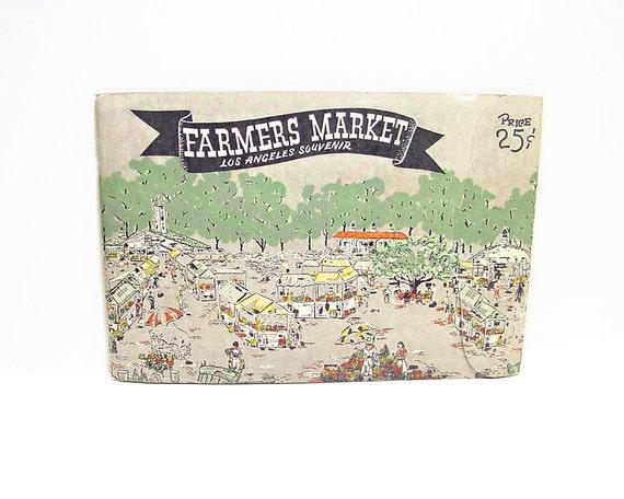 los angeles farmer s market souvenir booklet 1950s etsy