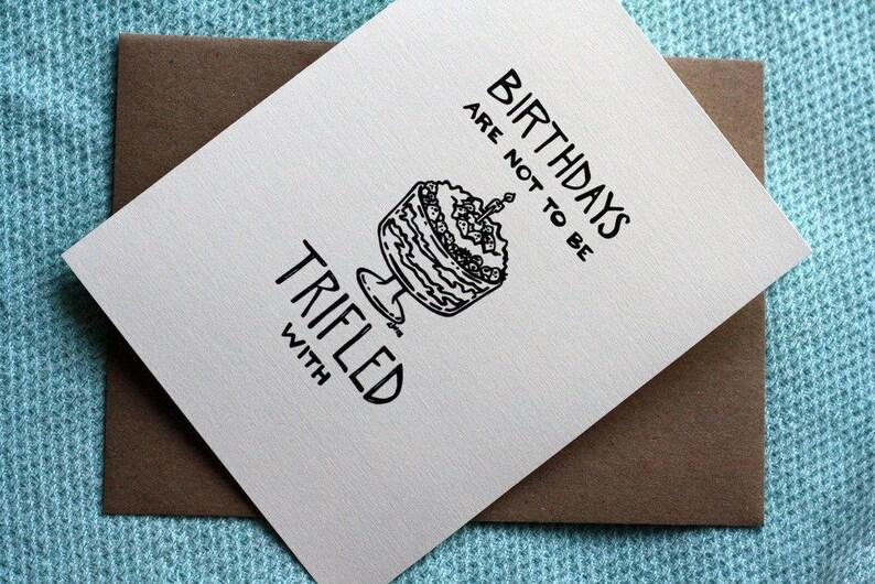 Trifling with Birthdays A7 Printable Birthday Card