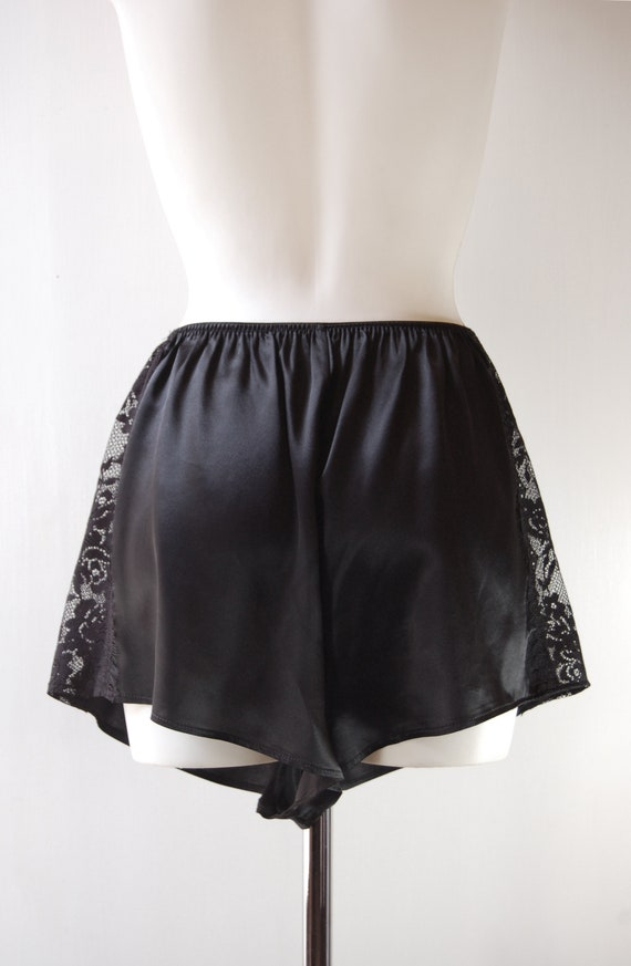 0ccc453fbec Black Pure Silk French Handmade Knickers with Lace Trim