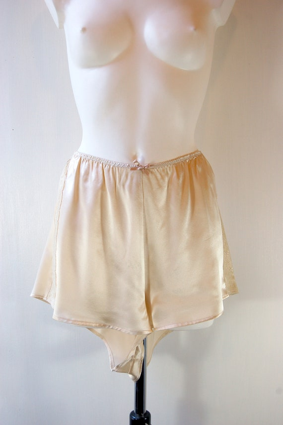 9b84cd52354 Pale gold silk French Knickers