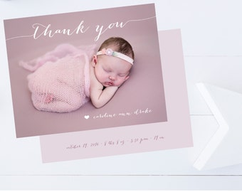 Baby Shower Thank You Cards Girl Twins Twins Thank You Cards Triplets Thank You Cards Boy Twins  Boy or Girl  Flat   Set of 25