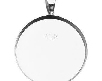 925 sterling silver twig base pendant 28\u04459.5 mm setting pendant silver blank pendant bezel cup base pendant 1 piece silver base