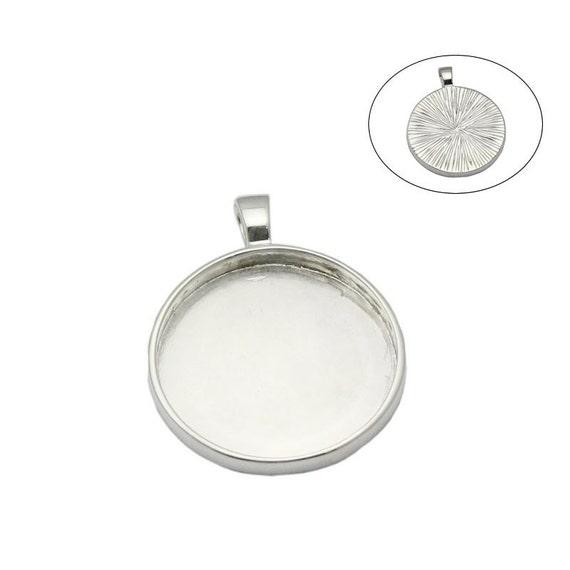 5 X Redondas de cabujón Colgante de plata plateado ajuste ajusta 20mm Vidrio, n.7