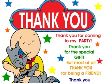 Caillou thank you digital download