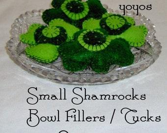 Tucks Saint Patrick Celebration Small SHAMROCKS BOWL FILLERS Hostess Gift Green Party Favors Set of Three St Paddys Day Irish
