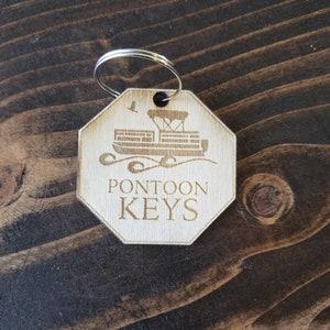 Wood Key Chain Key Accessories! The Pontoon Keys Boat