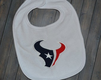 Embroidered Houston Texans Bib