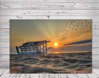 Low Rider Lifeguard Sunrise by Richard Pasquarella