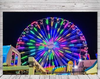 Casino Pier Ferris Wheel Amusement Ride by Richard Pasquarella