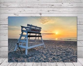 Lavallette Lifeguard June Sunrise II by Richard Pasquarella