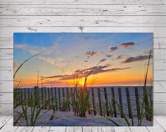 Sun Between The Dune Grass Sunrise I by Richard Pasquarella